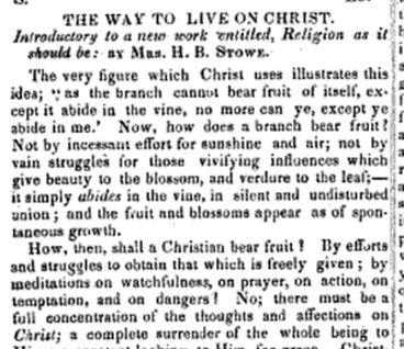 "Notice the title: ""The Way To Live On Christ."""