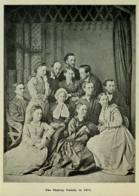 This picture includes the mother of Andrew Murray; his father was already deceased. Murray is standing at her left shoulder.